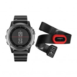 Jam Tangan Garmin Fenix 3 Sapphire Gray with Metal Band Performer Bundle